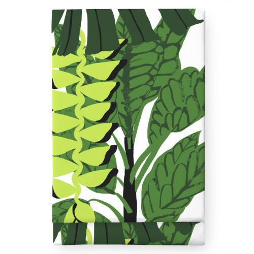 Finlayson Bunaken White / Green Tablecloth