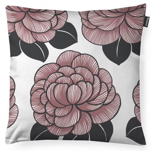Finlayson Sylvi White / Rose Throw Pillow