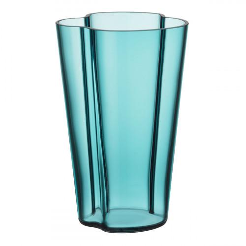 """iittala Aalto Sea Blue Vase - 8-3/4"""""""
