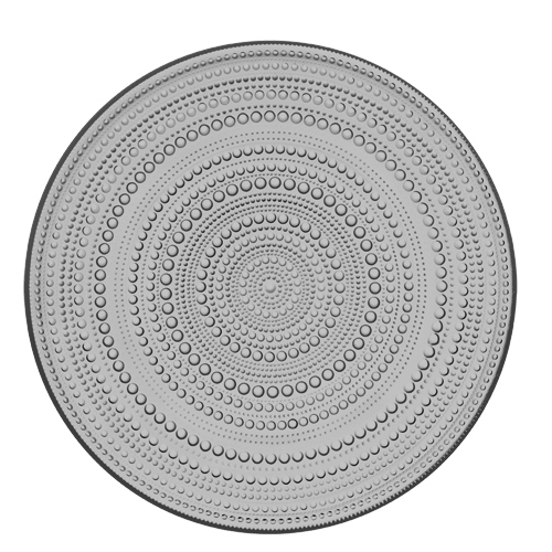 Iittala Kastehelmi Grey Serving Plate
