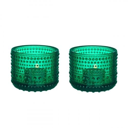 iittala Kastehelmi Emerald Candle Holder Set