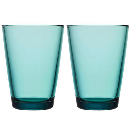 iittala Kartio Sea Blue Large Tumbler - Set of 2