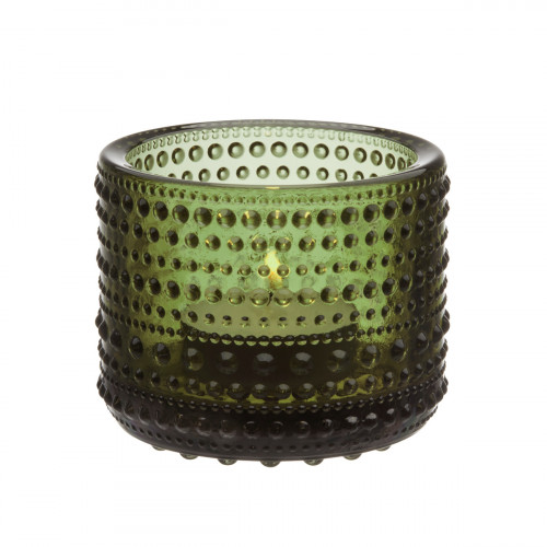 iittala Kastehelmi Moss Green Candleholder