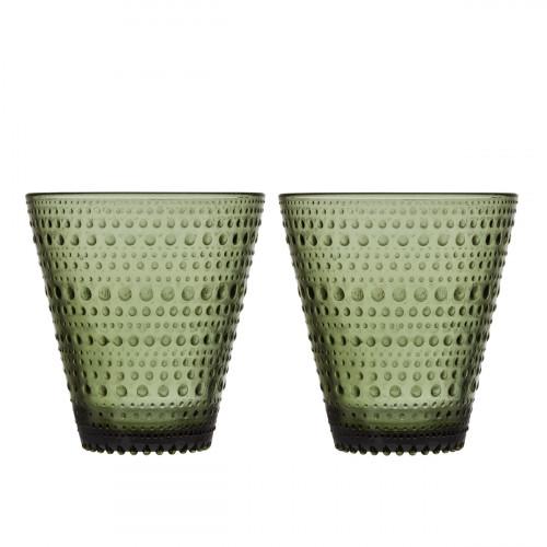 iittala Kastehelmi Moss Green Tumblers - Set of 2