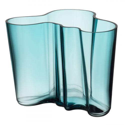 """iittala Aalto Sea Blue Vase - 6-1/4"""""""