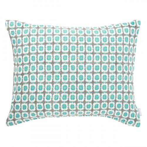 Lapuan Kankurit Corona Turquoise Wool Throw Pillow