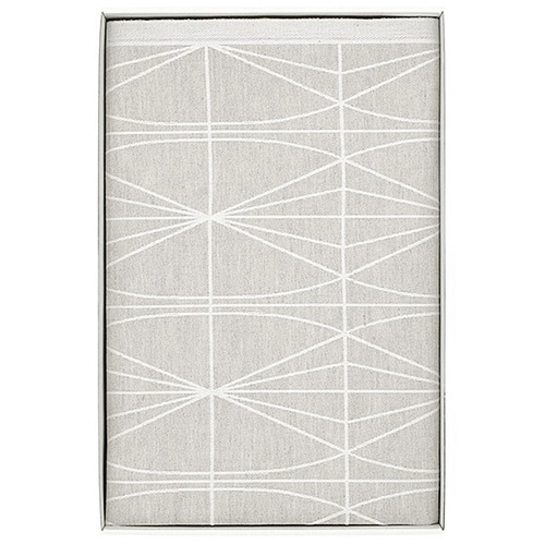 Lapuan Kankurit Kehrä Linen/White Tablecloth - Short