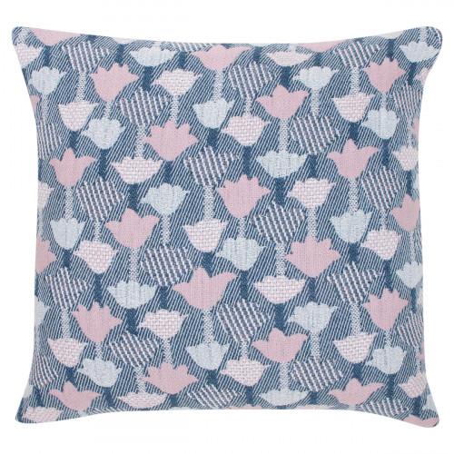 Lapuan Kankurit Tulppaani Blue / Rose Throw Pillow