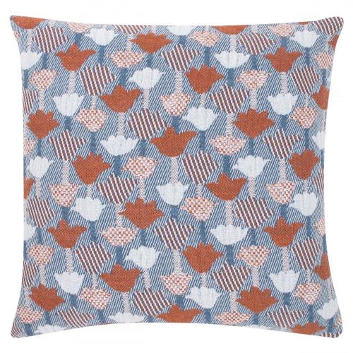 Lapuan Kankurit Tulppaani Blue / Cinnamon Throw Pillow