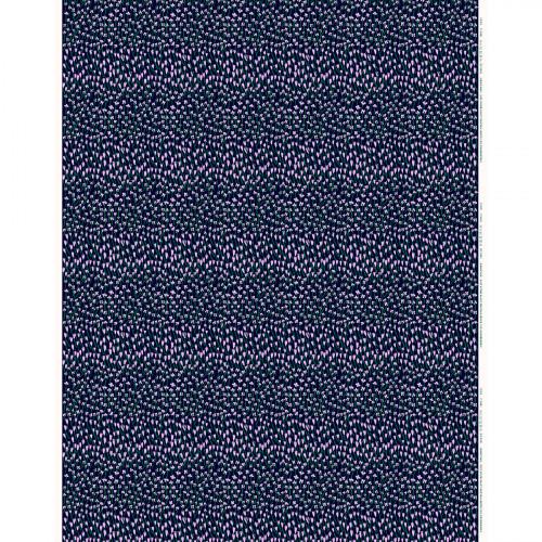 Marimekko Apilainen Navy / Lilac / Green Panama Fabric