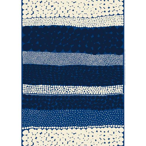 Marimekko Jurmo Blue / White Cotton Fabric