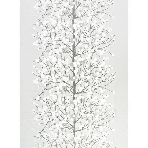 Marimekko Lumimarja Silver/White Sateen Fabric