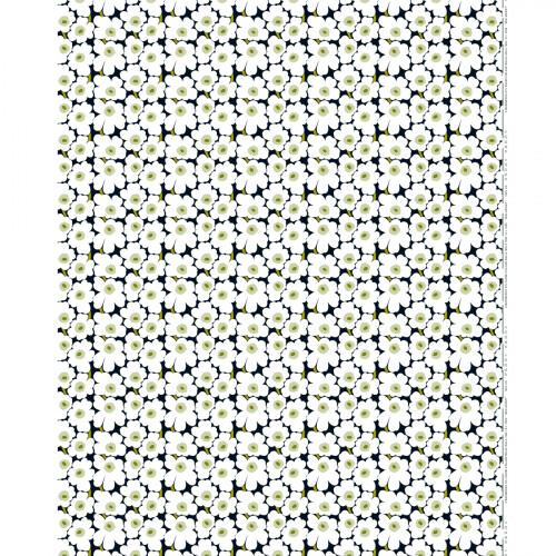 Marimekko Mini-Unikko Fabric Black / White / Green