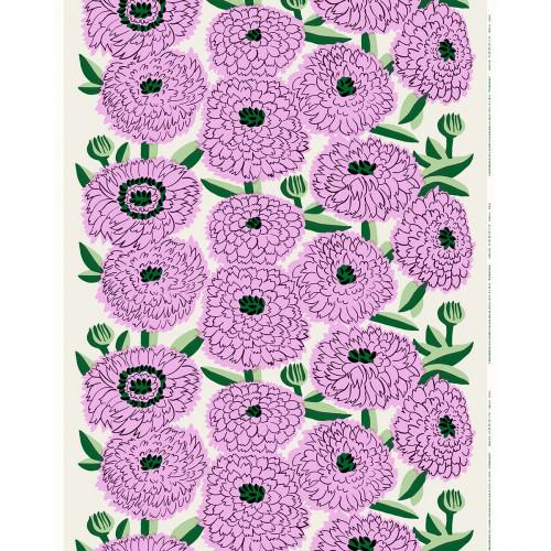 Marimekko Primavera Ecru / Lilac / Green Fabric