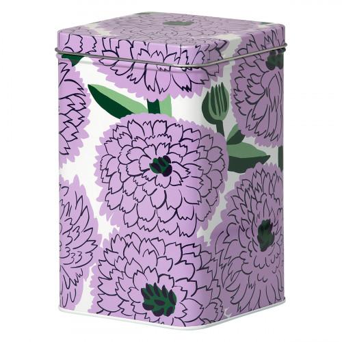 Marimekko Primavera White / Lilac / Green Tin Box