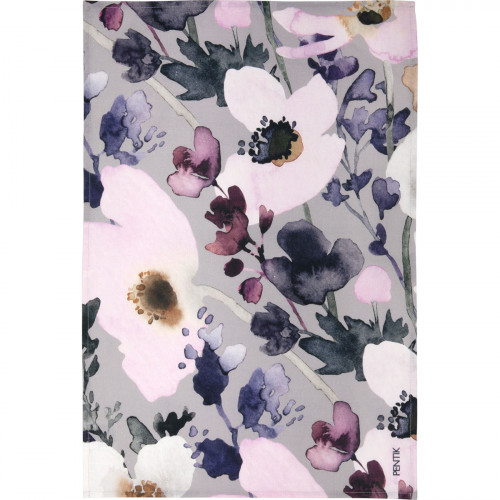 Pentik Anemone Grey / Pink Tea Towel