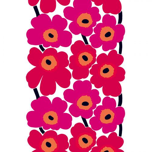 Marimekko Unikko Red / White Fabric