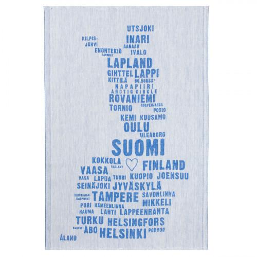 Lapuan Kankurit My Finland Blue Tea Towel
