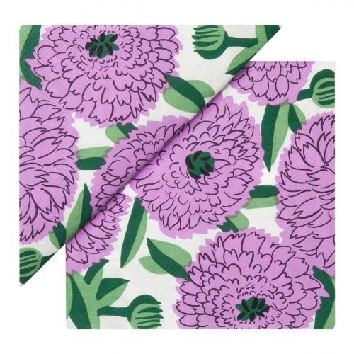 Marimekko Primavera Lilac / Green Lunch Napkins