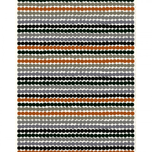 Marimekko Rasymatto White / Grey / Brown Acrylic-Coated Cotton Fabric