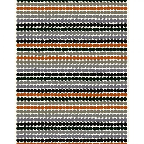 Marimekko Rasymatto White / Grey / Chestnut Brown Fabric