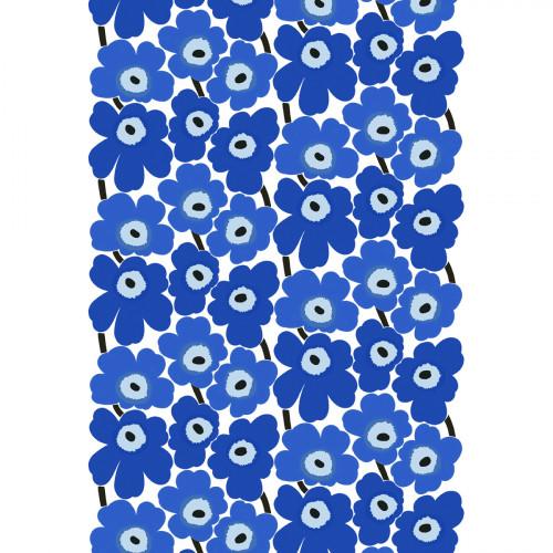 Marimekko Pieni Unikko Blue Cotton Fabric