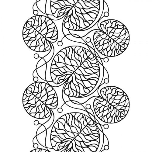 Marimekko Bottna White / Black Fabric