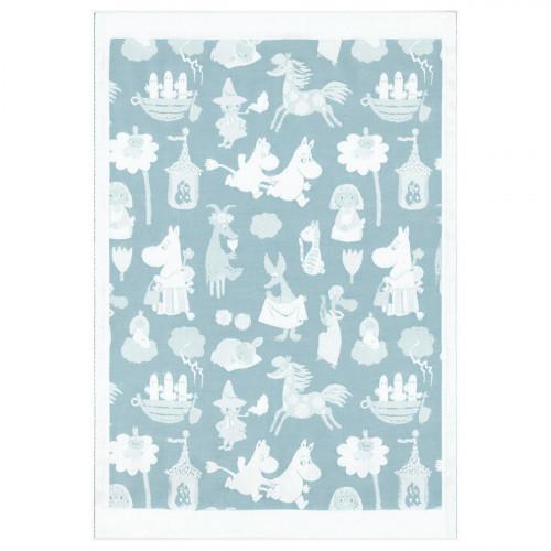 Ekelund Moomin Moominvalley Blue Baby Blanket