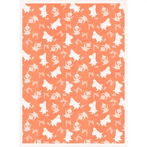 Ekelund Moomin Happy Orange Throw Blanket