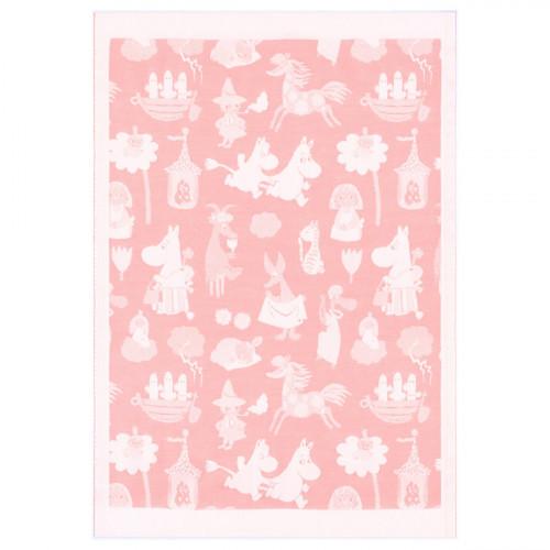 Ekelund Moomin Moominvalley Pink Baby Blanket