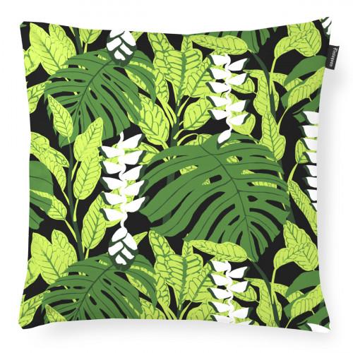 Finlayson Bunaken Black / Green Throw Pillow