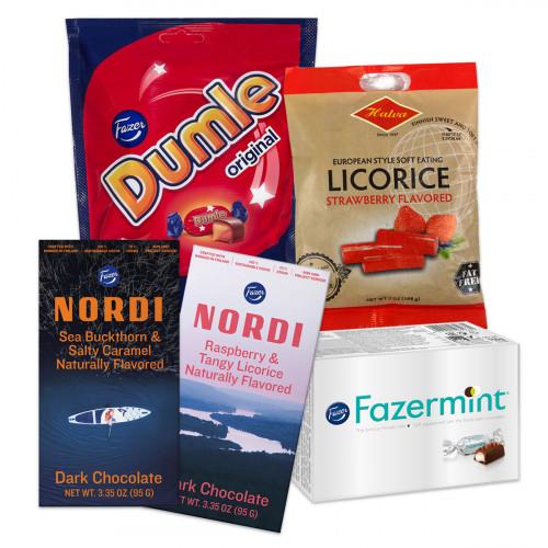 Finnish Five-Piece Candy Assortment