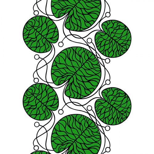 Marimekko Bottna Green/White Fabric