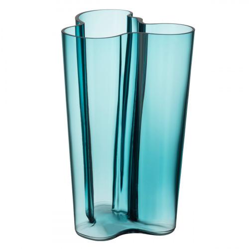 "iittala Aalto Sea Blue Finlandia Vase - 10"""