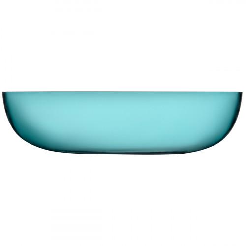 iittala Raami Sea Blue Glass Serving Bowl