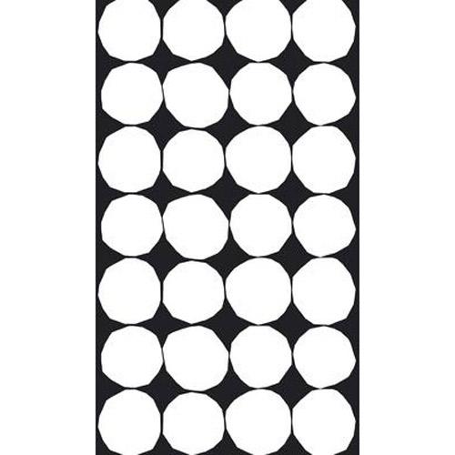 Marimekko Kivet Black / White Cotton Fabric