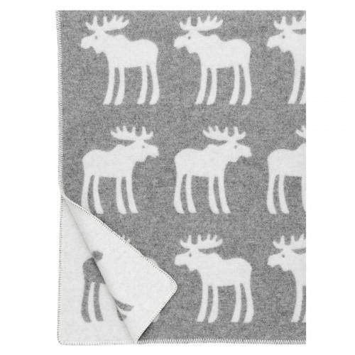 Lapuan Kankurit Hirvi Grey/White Wool Blanket
