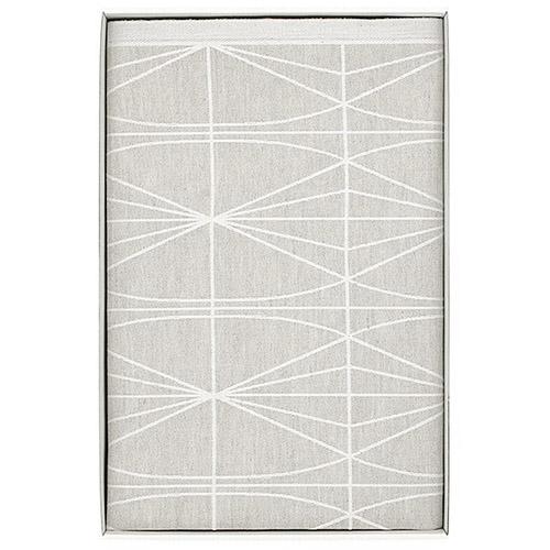Lapuan Kankurit Kehrä Linen/White Tablecloth - Medium