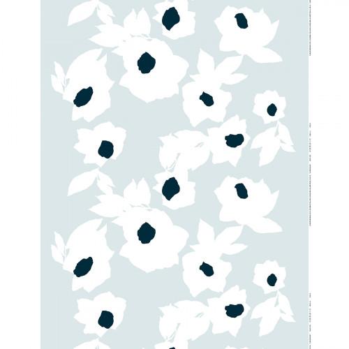 Marimekko Jaarouva Grey / White / Blue Fabric