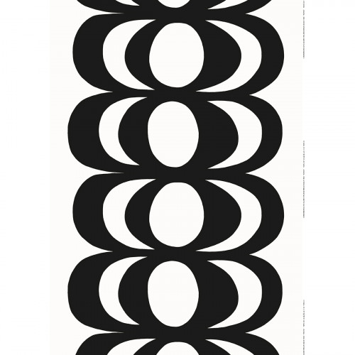 Marimekko Kaivo White / Black Fabric Repeat