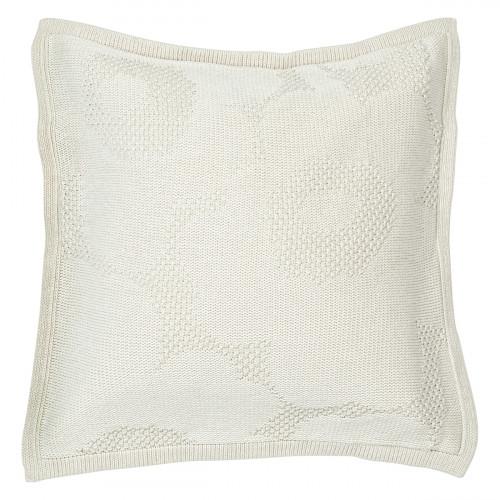 Marimekko Unikko Ecru Knit Large Throw Pillow