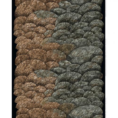 Marimekko Kokadera Black / Brown Fabric