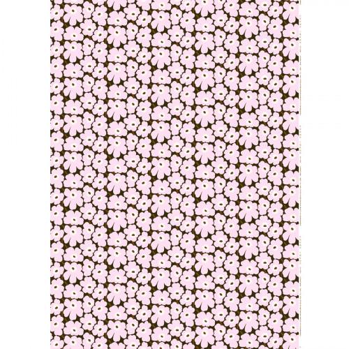 Marimekko Mini Unikko Lilac / Brown Fabric