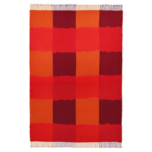 Marimekko Ostjakki Orange / Burgundy Blanket