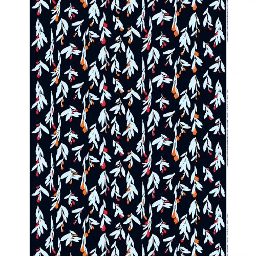 Marimekko Pieni Hyhma Navy / Red / Orange Fabric