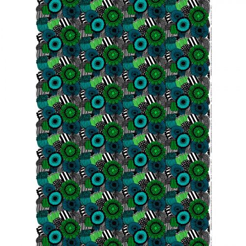 Marimekko Pieni Siirtolapuutarha Green / Turquoise Fabric