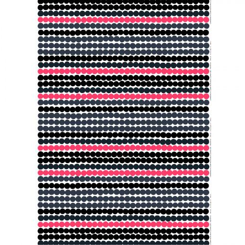 Marimekko Räsymatto White / Grey / Pink Cotton Fabric