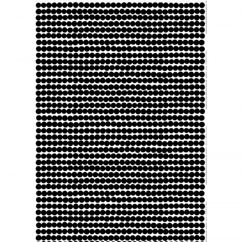 Marimekko Räsymatto White / Black Cotton Fabric