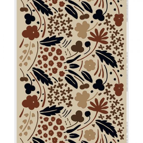 Marimekko Suvi Beige / Black / Brown Fabric