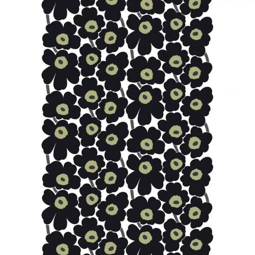 Marimekko Pieni Unikko Black / Khaki Fabric